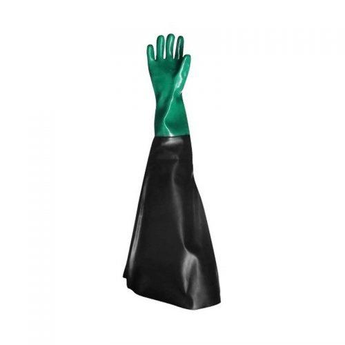 Luva de PVC forrada para jato de areia Handschuhe