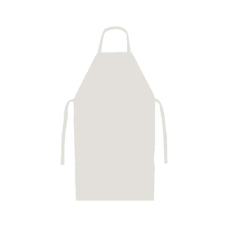 Avental PVC Forrado Branco ou Preto Maicol