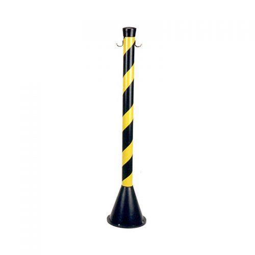 Pedestal PVC Zebrado 90cm