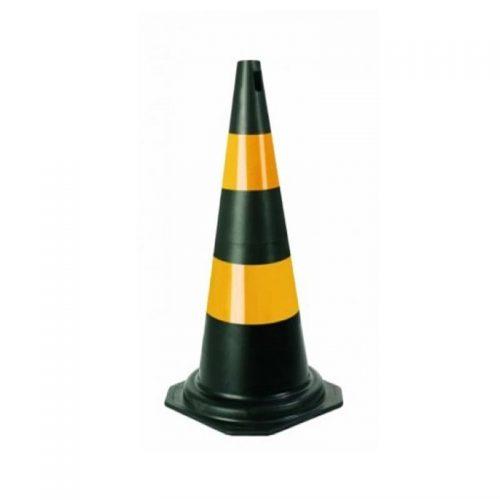Cone PVC 75 Cm Laranja/Branco Plastcor