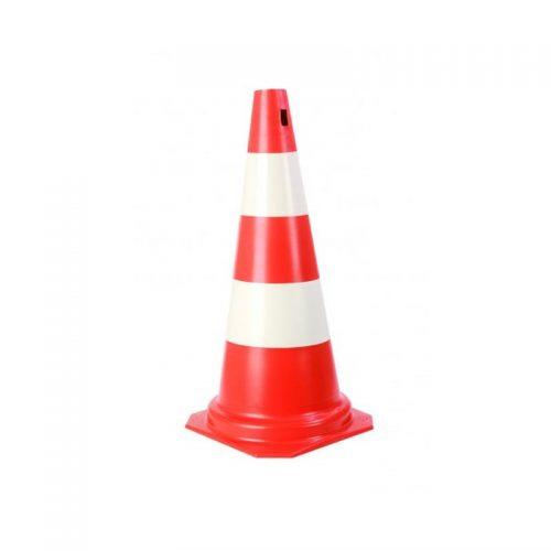 Cone PVC 50 Cm Laranja/Branco Plastcor