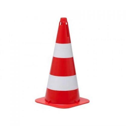 Cone Flexível com Faixa Refletivo 75 cm Laranja/Branca