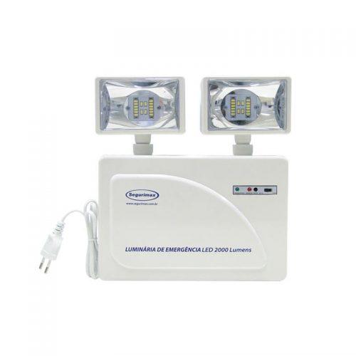 Luminária de Emergência de LED de 2000 Lúmens