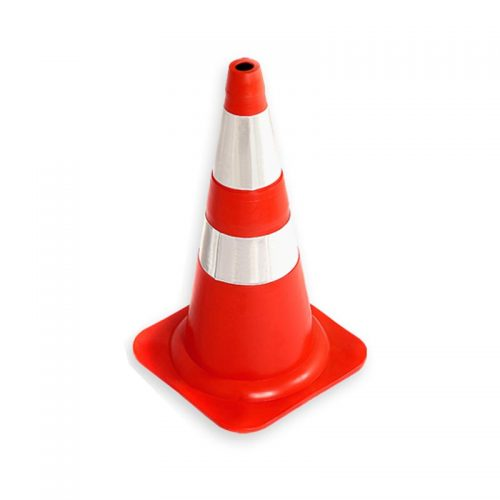 Cone Flexível com Faixa Refletiva 50 cm Laranja/Branco